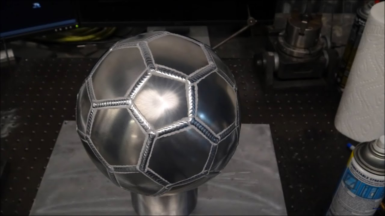 TIG Welding Aluminum Fabrication - Soccer Ball - Sheet Metal Forming
