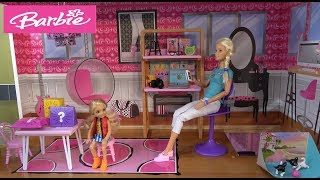 Barbie and Ken NEW Video with Chelsea and Cute Puppies in Barbie Dream House