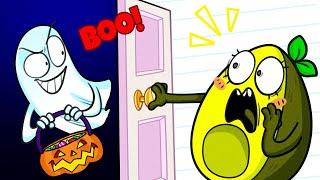 Avocado Couple ¦ Knock Knock, Trick Or Treat, Scared Vegetable Halloween