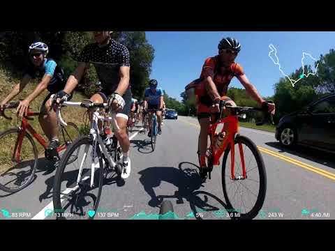 The noon ride 4-24-18 Reverse double alpine loop