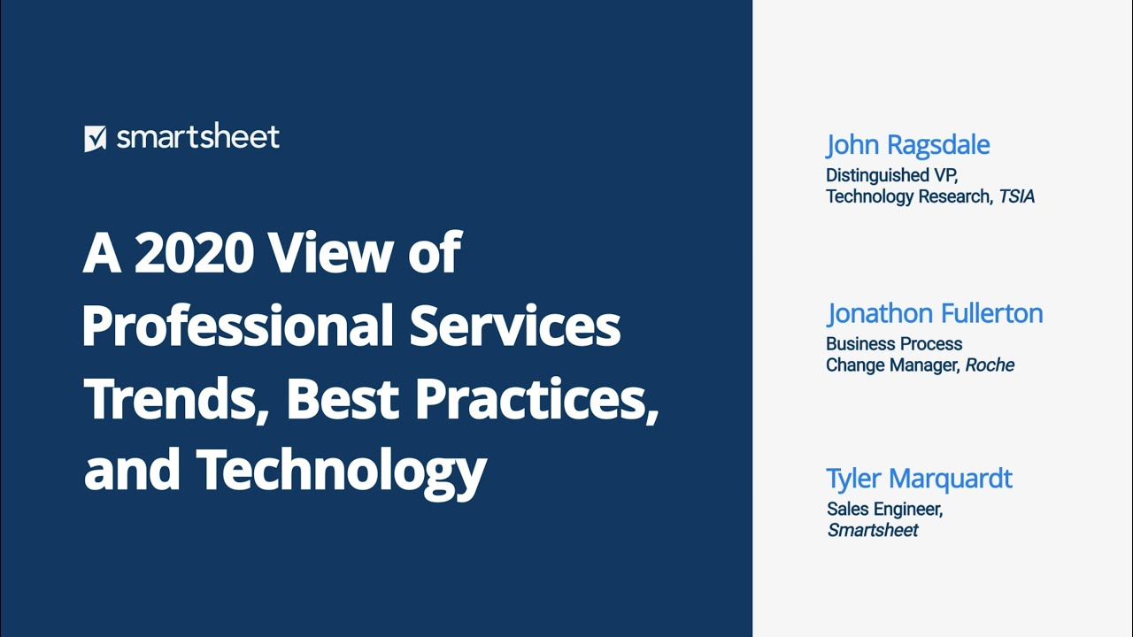 Webinar: A 2020 View of Professional Services Trends, Best