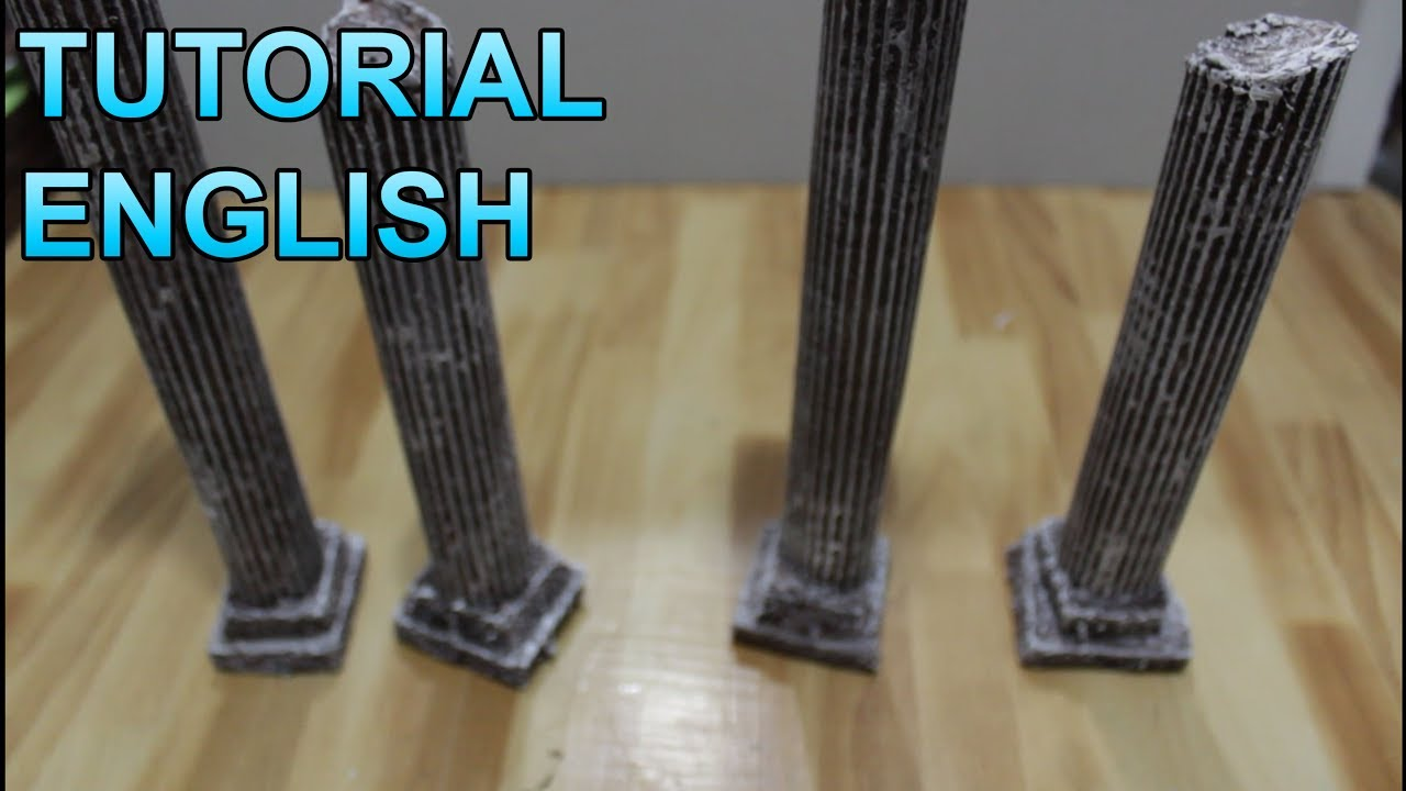 Diorama Props 3 Greek Pillars Youtube