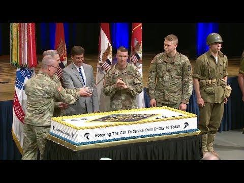 244th Army Birthday Cake Cutting Ceremony