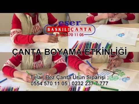 Eser Canta Canta Boyama Etkinligi Tela Bez Cantalar Youtube