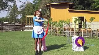 ドリームハート中西里菜さんの千葉動物園公園のソロマジックイベントの...