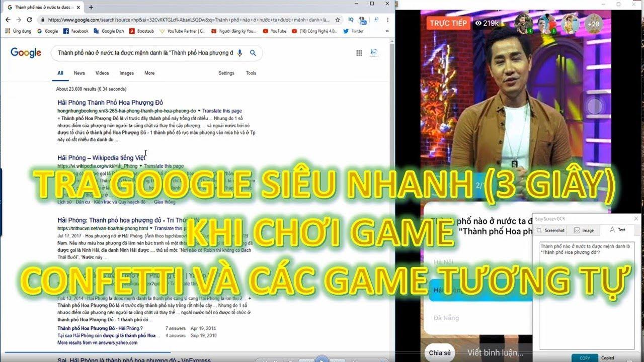 [HOT] Tra google siêu nhanh khi chơi confetti chỉ 3s