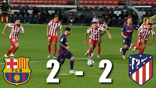 Barcelona Vs Atletico Madrid 2-2 , La Liga, 2020 - Match Review