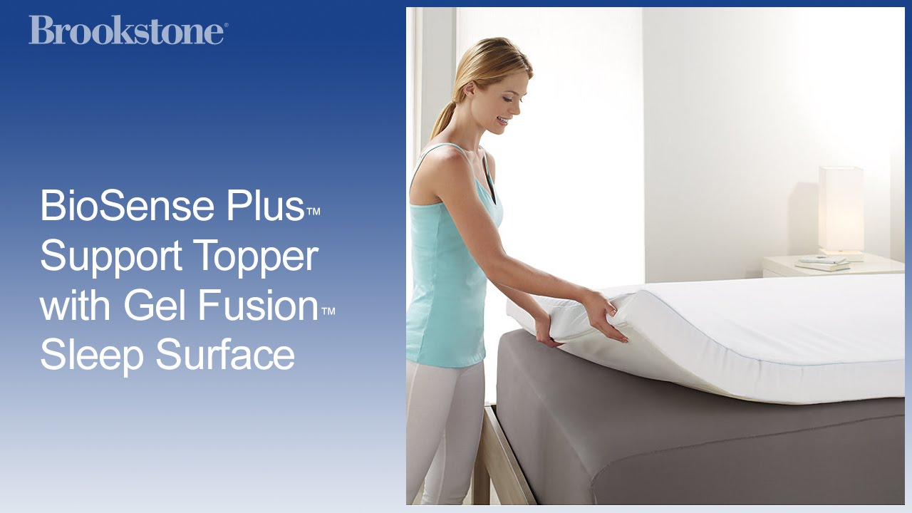 Biosense Plus Support Topper With Gel Fusion Sleep Surface Youtube