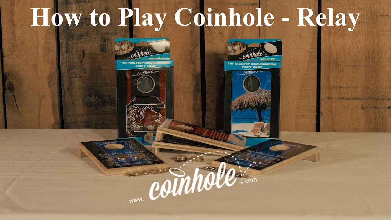 How To Play - Coinhole - mini tabletop cornhole with