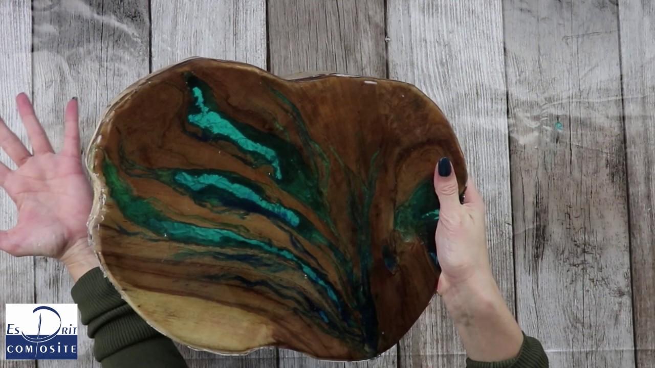 comment faire inclusion de resine dans du bois en resine cristalle epoxy
