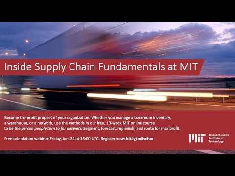 Become the profit prophet of your organization with Fundamentals of Supply Chain Management at MIT