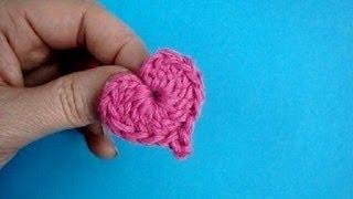 Как вязать сердечко крючком Урок 283 How to crochet little heart