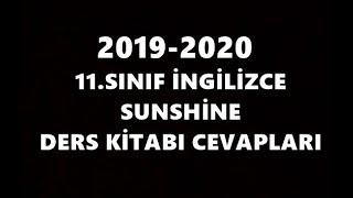 11.  Sınıf İngilizce Sunshine Ders Kitabı Cevapları 2019 2020