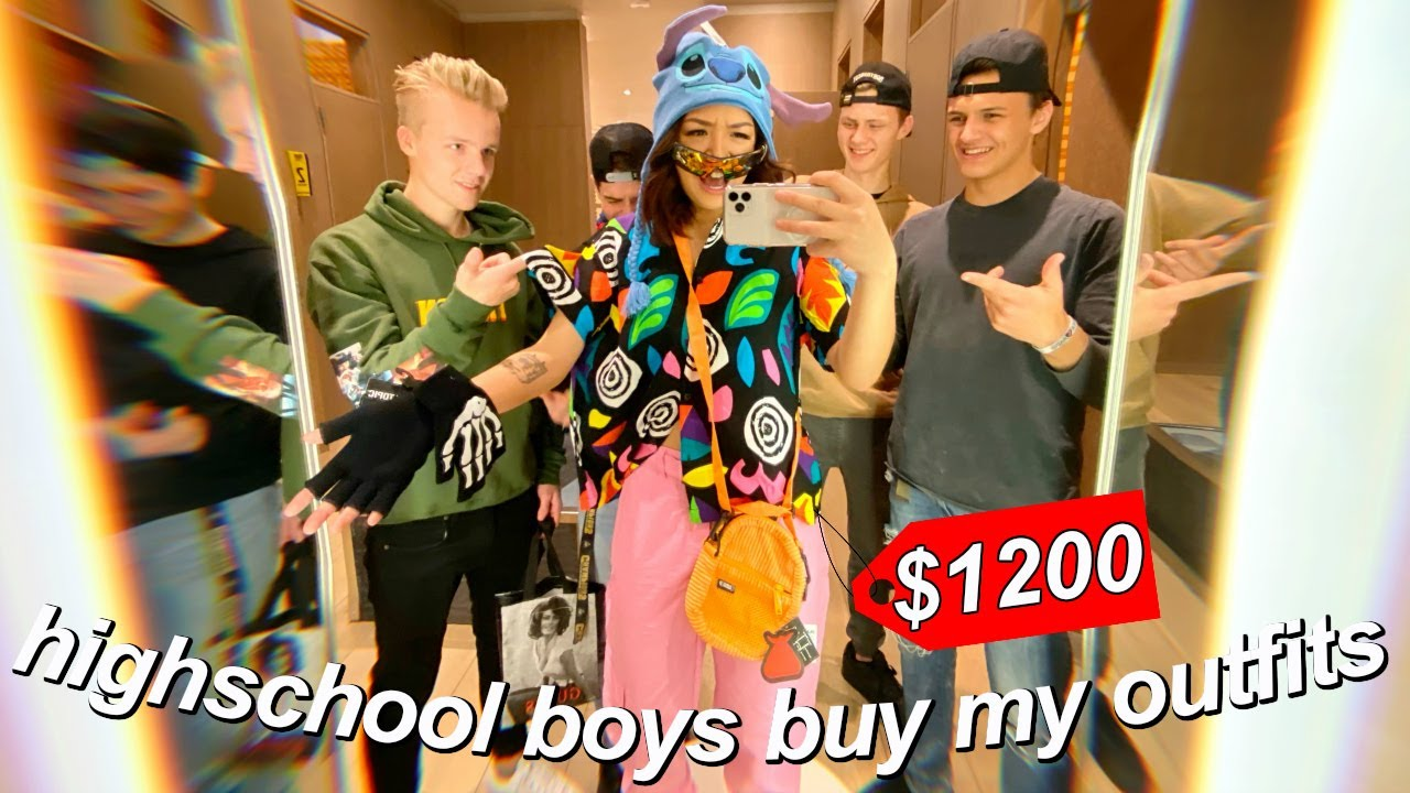 [VIDEO] - highschool boys buy my outfits for a week (they spent $1200) 3