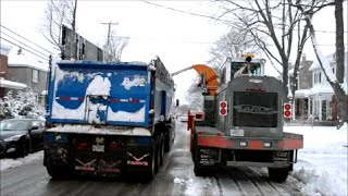 SNOWBLOWER & DUMP TRUCKS - MONTREAL SNOW REMOVAL PROCESS