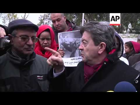 French left-wing party leader visits the grave of Chokri Belaid