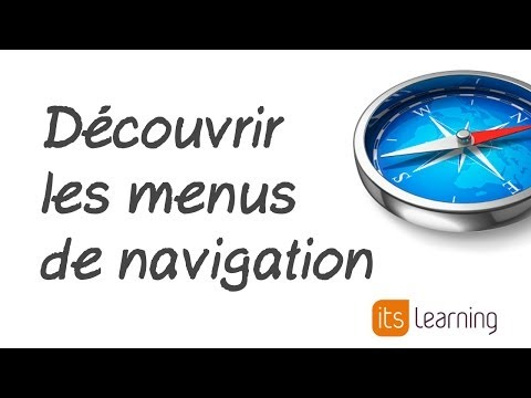 itslearning France - Repérer les éléments de navigation de l'ENT itslearning