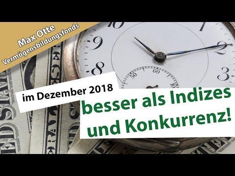 Max Otte Vermögensbildungsfonds im Dezember 2018: Stabil, wenn andere wackeln