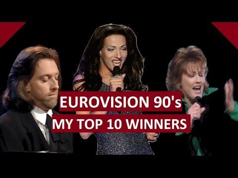 My Top 10 Eurovision Winners [1990 - 1999]