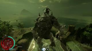 Shadow of War: Mounting a Graug, Climbing Towers, and Smashing Puny Enemies Gameplay