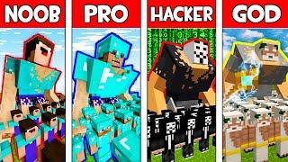 Minecraft NOOB vs PRO vs HACKER vs GOD: ARMY in Minecraft Animation