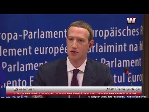 Datenmissbrauch und Fake-News: Mark Zuckerberg äußert sich vor EU-Parlament