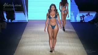 Amazing Naturally curvy model ramp walk at Miami fashion weak 2018 HD