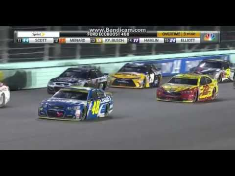 2016 Ford EcoBoost 400 Finish - Jimmie Johnson Wins His 7th Championship