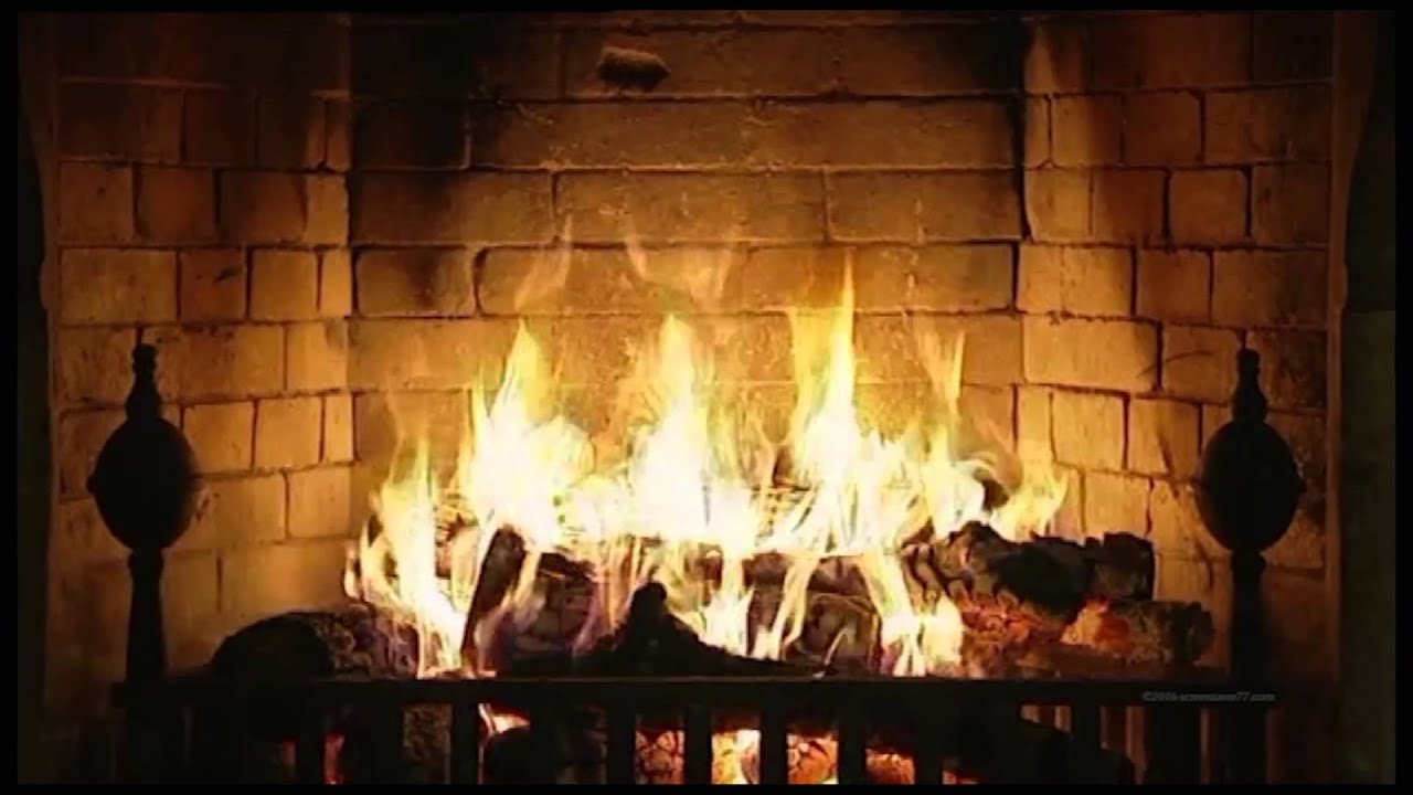 Burning Fireplace with crackling wood - 3 hour - YouTube