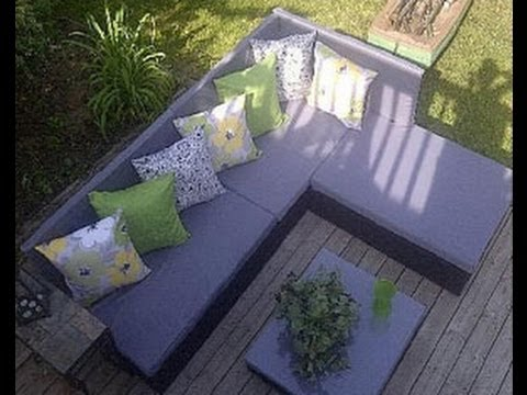 How to build a pallet sofa for the garden youtube - Plan pour fabriquer un salon de jardin en palette ...