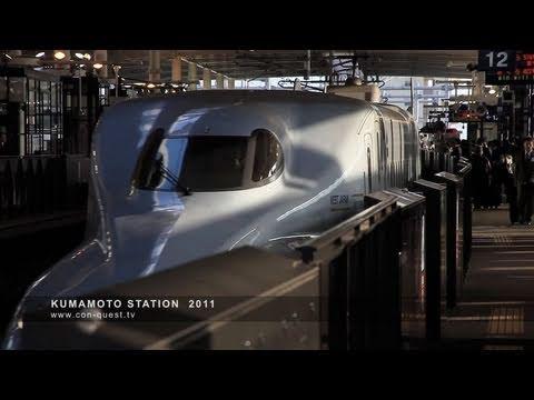 九州新幹線 N700系さくらと800系つばめ 熊本駅にて