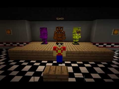 Minecraft fnaf 1 five nights at freddy s texture pack youtube