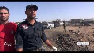 أورينت نيوز ترصد مكان أنفجار  مفخخىة تنظيم الدولة  في اعزاز