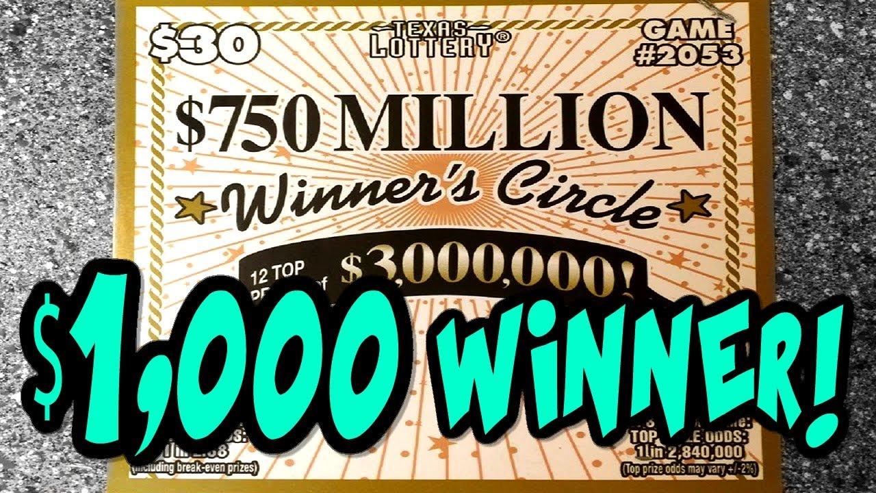 HUGE WINNER! CLAIMER WIN!!! New $750 Million Winner's Circle FULL BOOK!  Texas Lottery