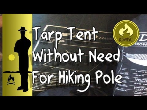 Tarp tent/ hex or mini peak set up with no need for central