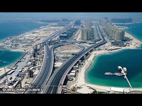Dubai The Palm Jumeirah Aerial View