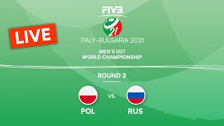 LIVE 🔴 POL vs. RUS - Round 2 | Men's U21 Volleyball World Champs 2021