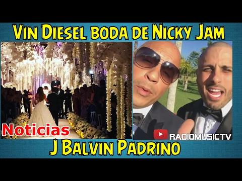 ¡Vin Diesel en la Boda de Nicky Jam ,J Balvin padrino!.NOTICIAS RadioMusicTV