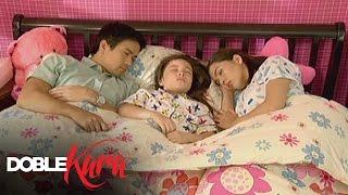 Doble Kara: Seb and Kara sleep beside Becca