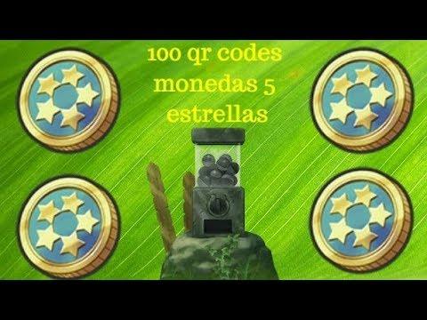 100 Qr Codes Para La Moneda De 5 Estrellas Yokai Watch 2