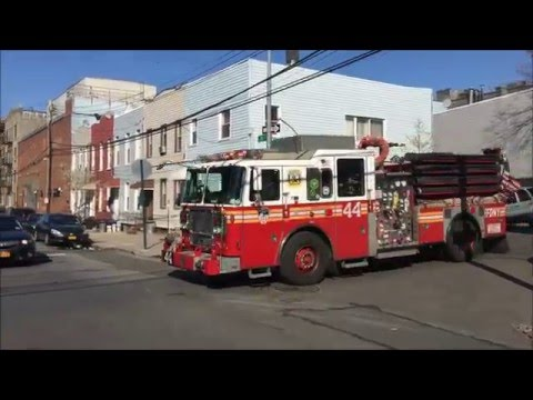 FDNY RESPONDING & BATTLING A 5TH ALARM FIRE ON 13TH ST. IN LONG ISLAND CITY, QUEENS, NYC.