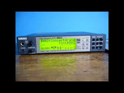 Yamaha MU80 XG MIDI demo