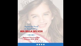 National American Miss Farewell DVD by Pageants 2 Go - Mia Bella Wilson