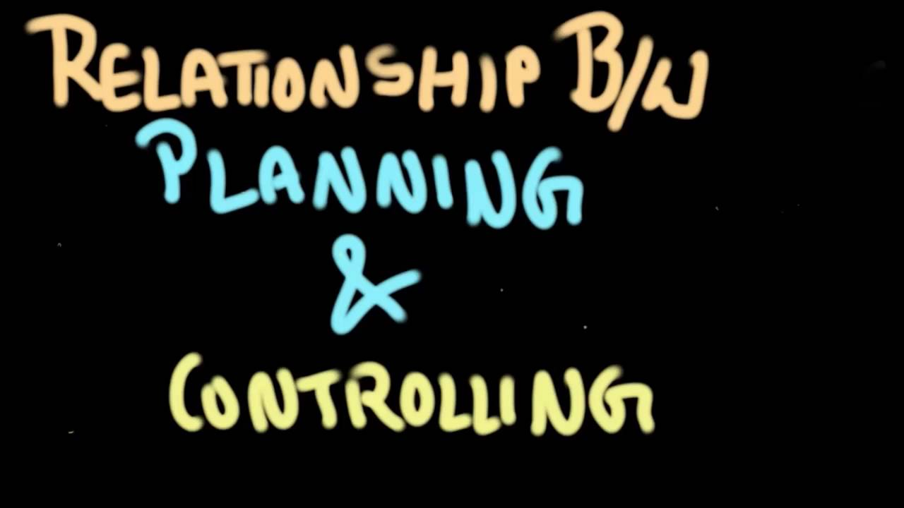 relationship between project planning and control