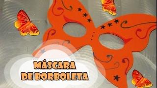 DIY.: Máscara de borboleta com lápis aquarela