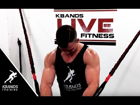 Build Your Lower Chest With Resistance Bands Decline Press Youtube