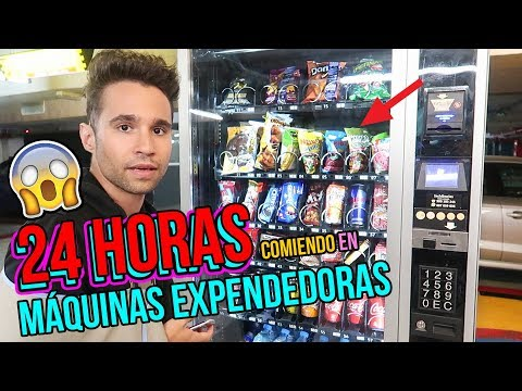 24 HORAS COMIENDO EN MAQUINAS EXPENDEDORAS - I Only Ate VENDING MACHINE FOODS for 24 hours Challenge