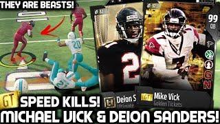 GOLDEN TICKET MICHAEL VICK & ULTIMATE DEION SANDERS! SPEED KILLS! Madden 18 Ultimate Team