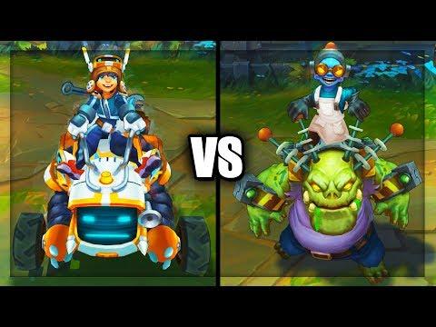 Nunu Bot vs Zombie Nunu Best Nunu Skins Comparison (League of Legends)