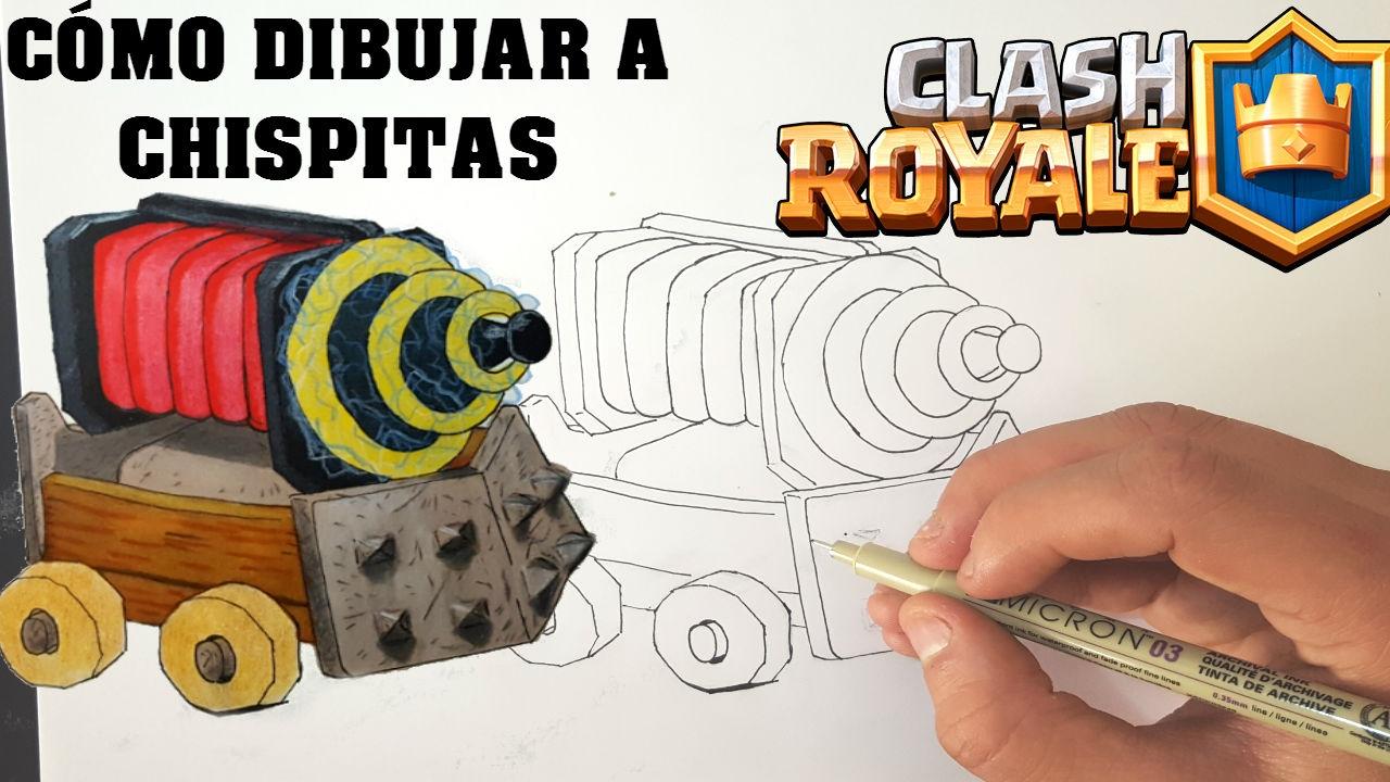 Dibujos Para Dibujar De Clash Royale: Cómo Dibujar A CHISPITAS De CLASH ROYALE-MagicBocetos